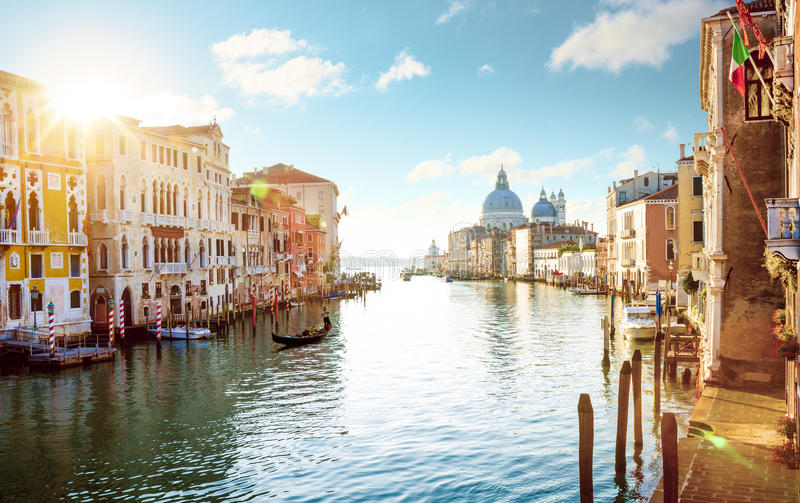 Panorama of Grand Canal in Venice, Italy. Panorama of Grand Canal in Venice - Italy stock photos