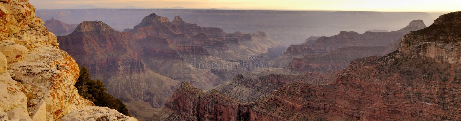 Panorama of Grand Canyon from Bright Angel Viewpoint royalty free stock images