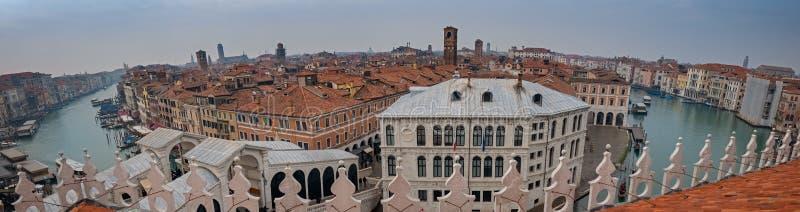 Panorama grandioso do canal, Veneza, capital da região de Vêneto, um local do patrimônio mundial do UNESCO, Itália do nordeste imagem de stock royalty free