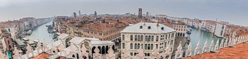 Panorama grandioso do canal, Veneza, capital da região de Vêneto, um local do patrimônio mundial do UNESCO, Itália do nordeste fotografia de stock
