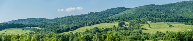 Panorama rural landscape in Carpathians stock photos