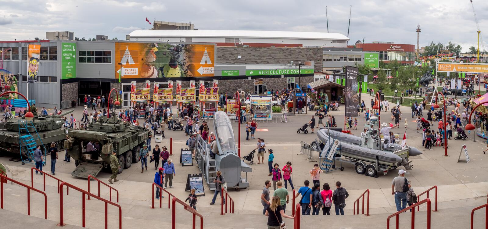 Panorama of the grounds at the Calgary Stampede royalty free stock photography