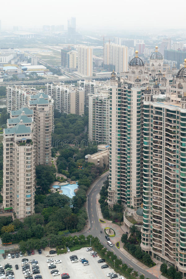 Panorama Of Guangzgou From Height. Royalty Free Stock Images