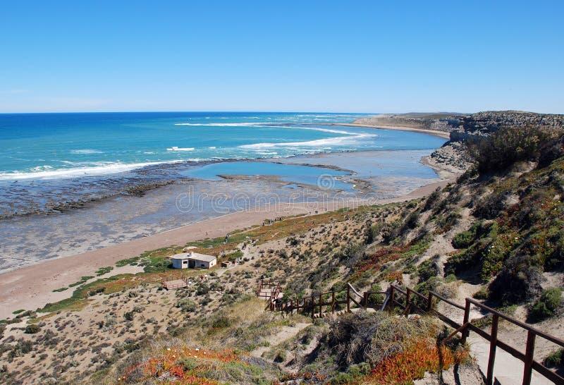 Panorama-Halbinsel Valdes Patagonia Argentinien stockfotografie