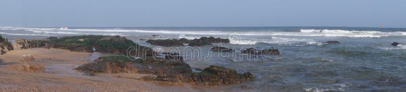 Panorama- havsikt på strandsidan av Vizag arkivfoto