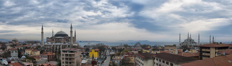 Panorama HDR de Istambul fotografia de stock royalty free