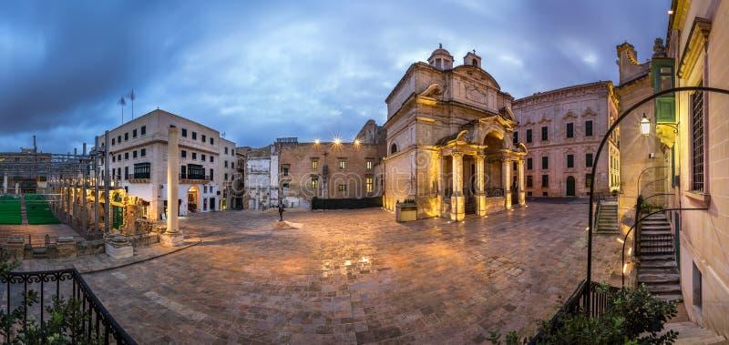Panorama Heilige Catherine van de Kerk van Italië stock afbeelding