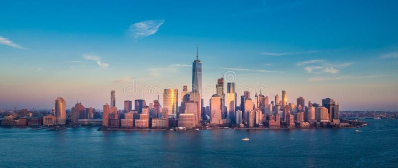 Panorama het Van de binnenstad van Manhattan stock fotografie