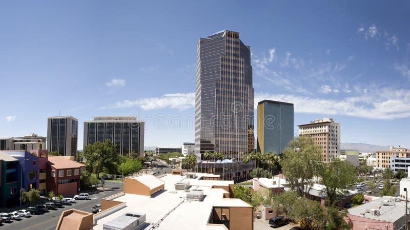 Panorama het van de binnenstad van Tucson Arizona royalty-vrije stock foto's