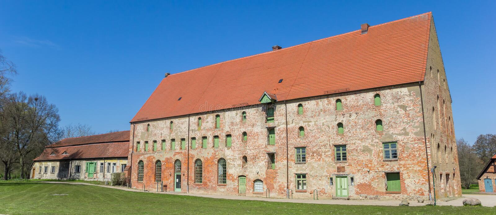 Panorama of historic buildings of the monastery in Dargun. Germany royalty free stock image