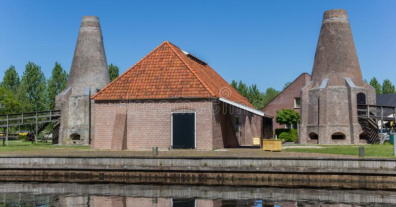 Panorama of the historic lime kiln in the center of Hasselt royalty free stock image