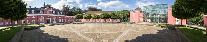 Panorama hoher Auflösung Schlossoberhausens Deutschland lizenzfreies stockbild