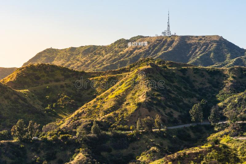 Panorama of the Hollywood Hills royalty free stock photo