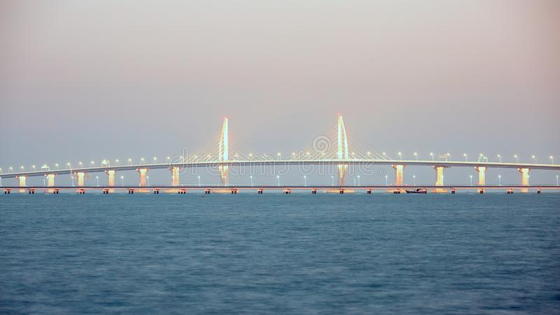 Hong Kong-Zhuhai-Macao Bridge royalty free stock photography
