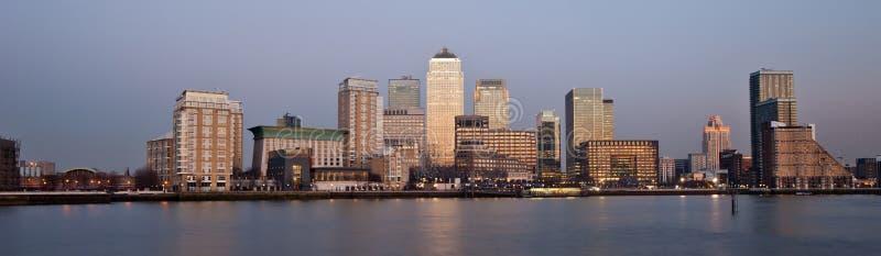 Panorama- Horisont 2013 London För Finansiellt Område Royaltyfri Foto
