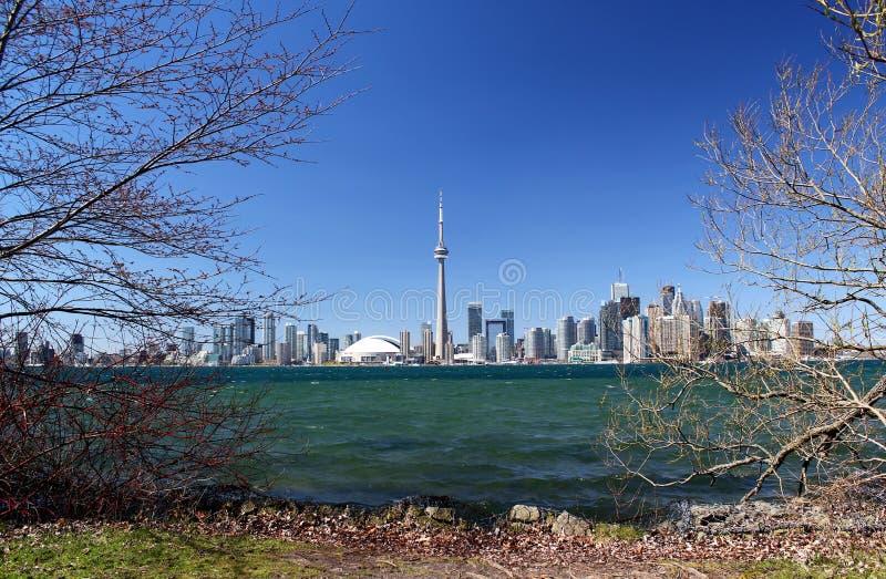 Panorama: Horizon van Toronto/Ontario/Canada royalty-vrije stock fotografie