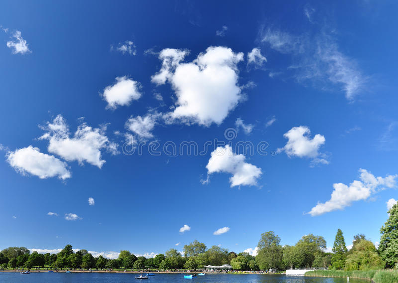 Download Panorama Of Hyde Park - London, UK Stock Photo - Image of lake, boat: 25439640