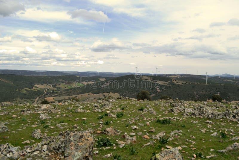 Panorama- i bergen av Toledo arkivbild