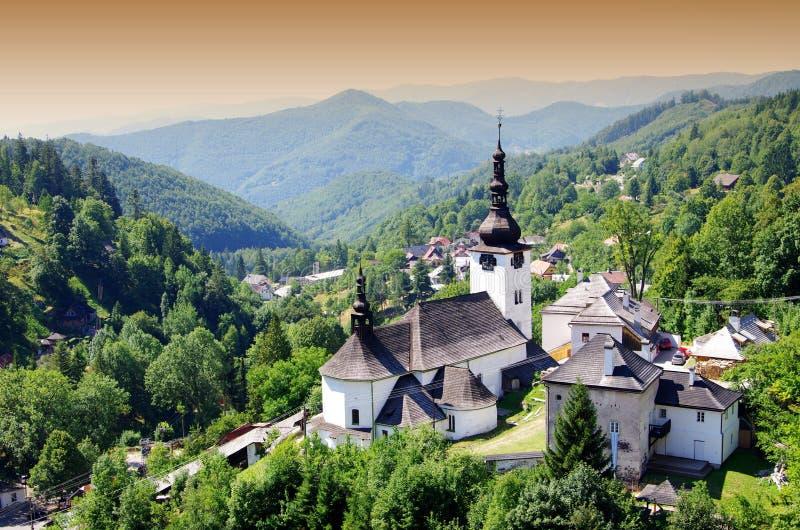 Panorama i den Spania dolinaen royaltyfria foton