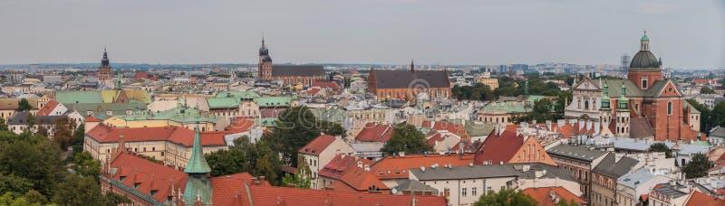 Panorama I di Cracovia fotografia stock libera da diritti
