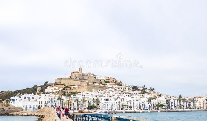 Panorama Ibiza stary miasteczko obraz stock