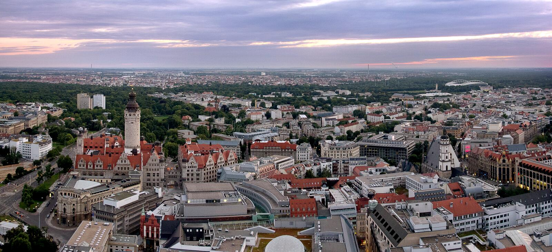 Panorama II di Leipzig fotografia stock libera da diritti