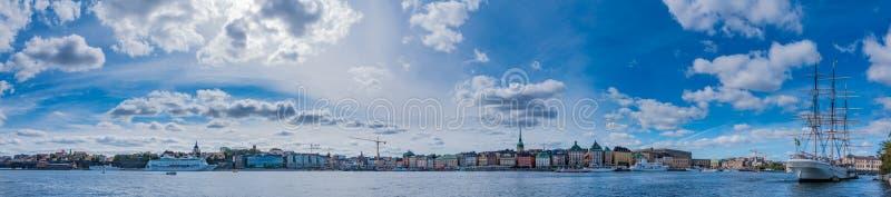 Panorama III de Estocolmo fotos de archivo libres de regalías