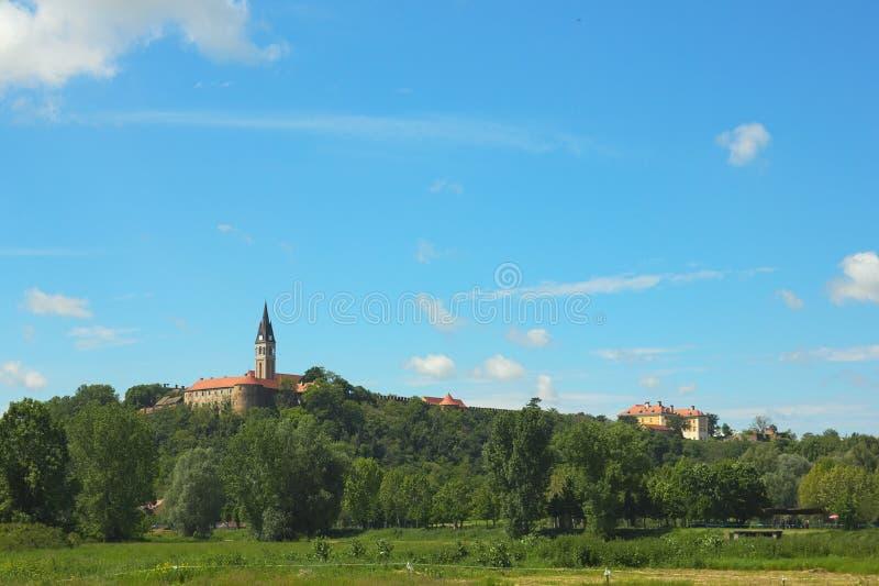 Panorama of Ilok. Beautiful landscape in Ilok (Croatia stock image