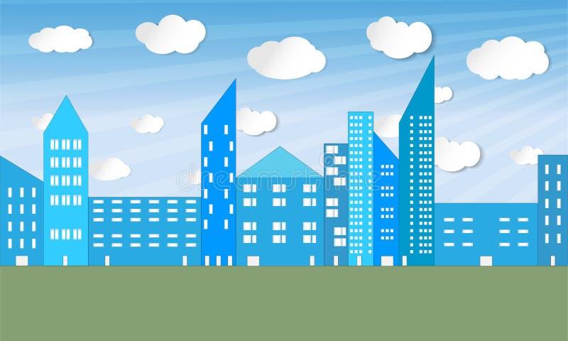Panorama ilustrado de la ciudad - vector libre illustration