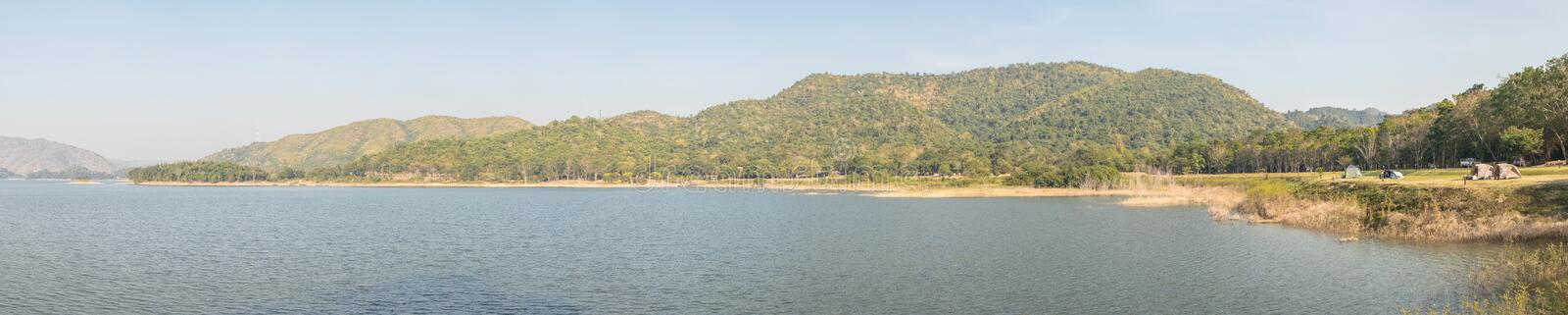 Panorama image of Tropical landscape view of Lake and Mountain at National Park. stock photo
