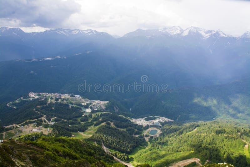 Panorama impressionante da montanha fotografia de stock