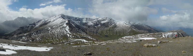 Panorama indien de Ridge - jaspe, les Rocheuses canadiennes image stock