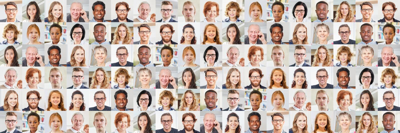 Panorama generations portrait collage stock photos