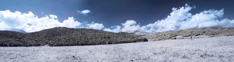 panorama- infraröd liggande royaltyfri foto