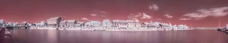 Panorama infrarrojo del puerto de Nyköpings fotos de archivo libres de regalías