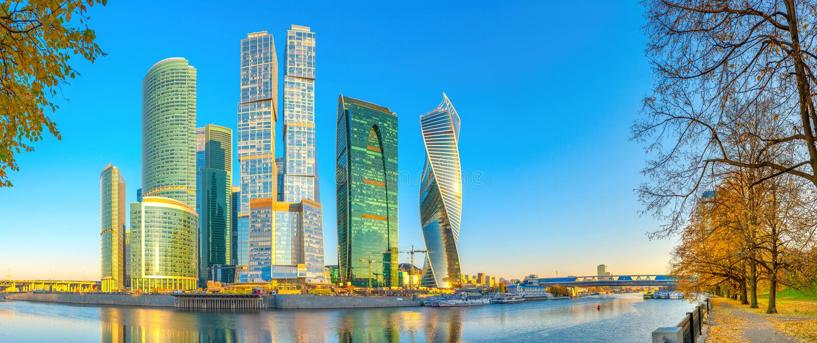 Panorama of the international business center. stock images