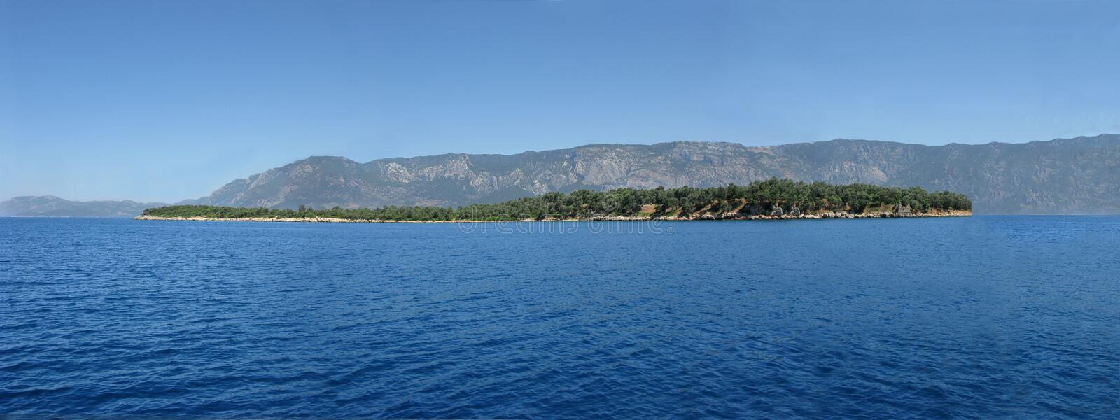 Download Panorama Of An Island In The Aegean Sea Stock Photo - Image: 10928194