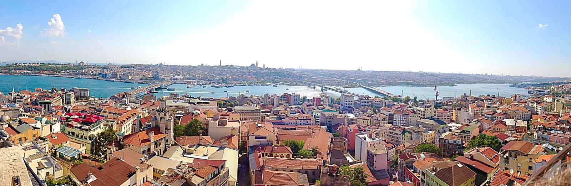 Panorama Istambul fotos de stock royalty free