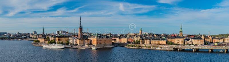 Panorama IV de Estocolmo fotos de archivo