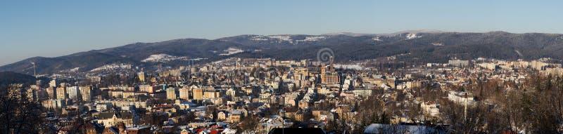 Panorama of Jablonec nad Nisou royalty free stock photography