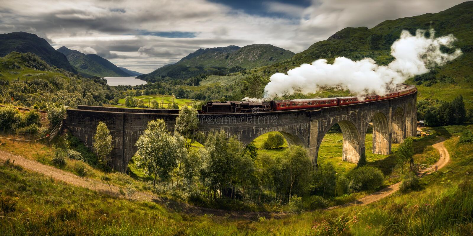Steam train Jacobite stock photography