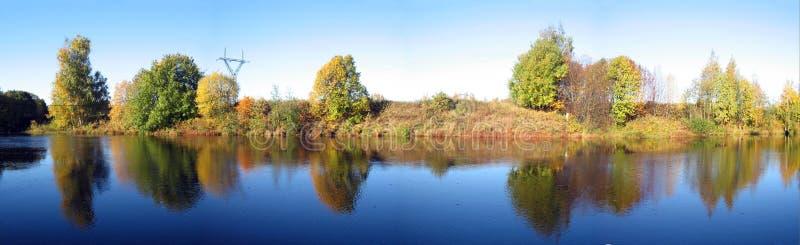 panorama jesienią fotografia stock