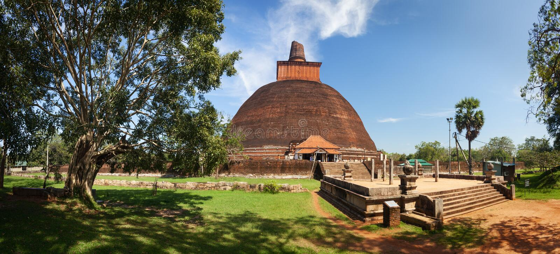 Panorama of Jetavanaramaya Dagoba, Anuradhapura, Sri Lanka royalty free stock images