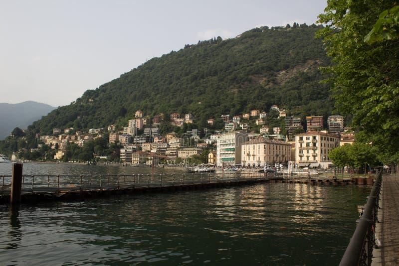 Panorama jezioro Como zdjęcie stock