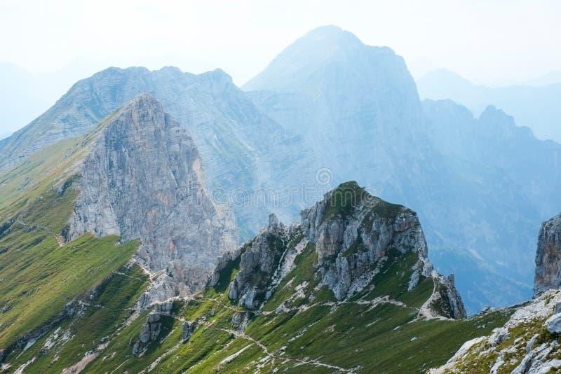 Panorama from Jof di Montasio. In Alpi Giulie, Friuli, Italy stock photos