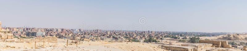 Panorama Kair od Wielkich ostrosłupów obrazy royalty free