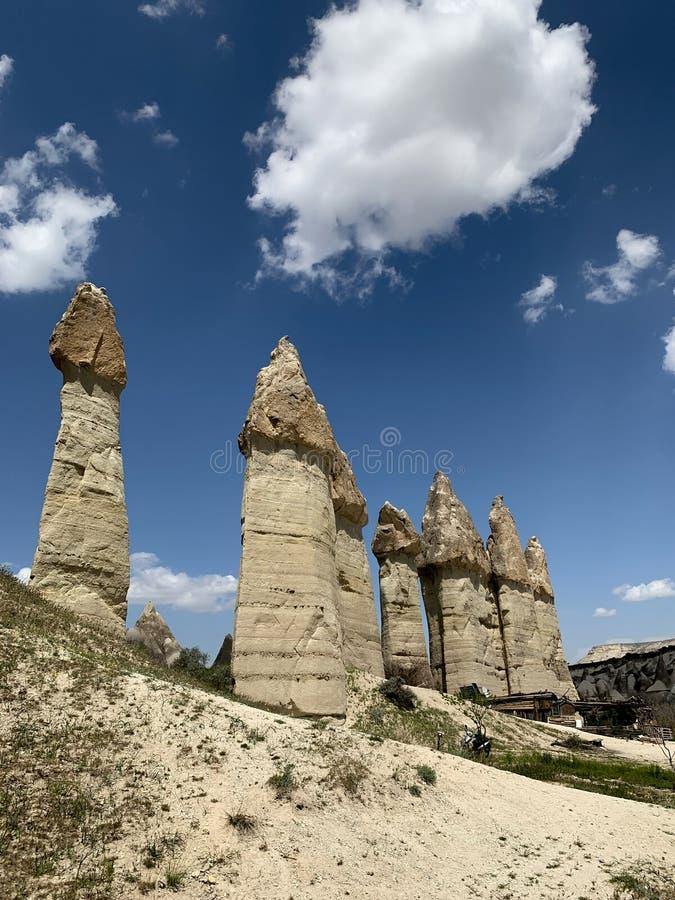 Panorama kamienni giganty w Gruzja zdjęcia royalty free