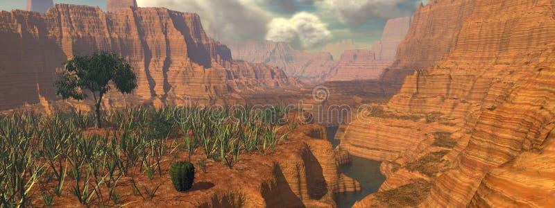 panorama kanionu royalty ilustracja