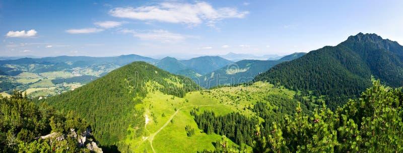 panorama- kantsikt för berg arkivfoto