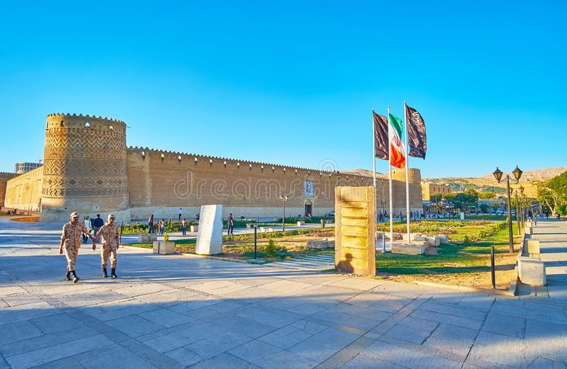 Panorama of Karim Khan Citadel, Shiraz, Iran stock image